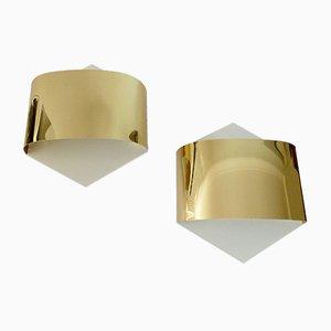 Golden Sconces by Rolf Krüger & Dieter Witte for Staff, 1960s, Set of 2