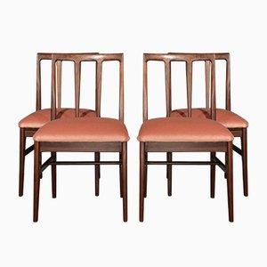 Mid-Century Esszimmerstühle aus Afrormosia von John Herbert für A. Younger Ltd., 4er Set
