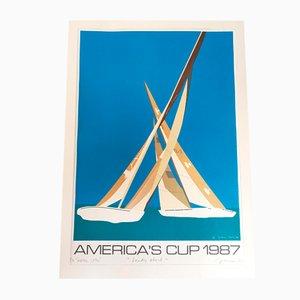 Affiche America's Cup 87 par Franco Costa, 1987