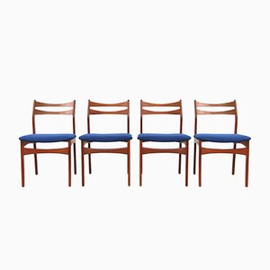 Danish Teak Dining Chairs by Erik Buch for Oddense Maskinsnedkeri, 1960s, Set of 4