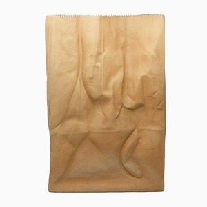 Jarrón de pie Paper Bag grande de cerámica de Tapio Wirkkala para Rosenthal, años 70