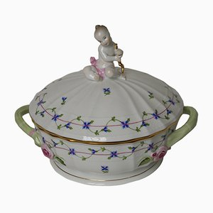 Antique Hungarian Porcelain Tureen from Herend
