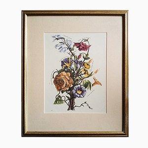 Antike italienische botanische Lithografie