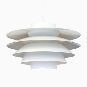 Vintage Verona White Hanging Lamp by Svend Middelboe for Nordisk Solar, 1960s
