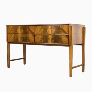 Mid-Century Burl Wood Sideboard