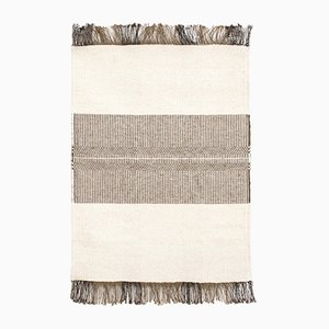 Tappeto vintage in lana intrecciata a mano