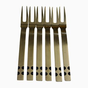 Besteck 2200 Meat Forks by Helmut Alder for Amboss, 1967, Set of 6