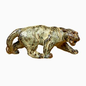 Vintage Panther Figurine by Knud Kyhn for Royal Copenhagen, 1950s