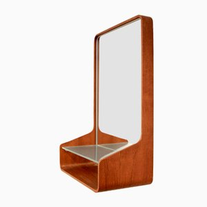 Teak Euroika Wall Mirror by Friso Kramer for Auping, 1950s