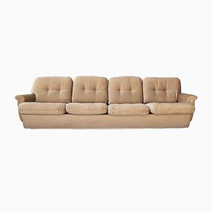Corduroy Four-Seater Couch, 1970s