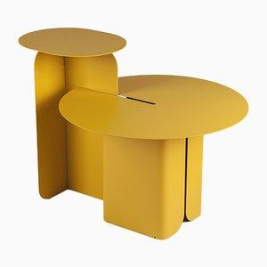Table Basse HIP HOP Jaune par Lucio Curcio e Luca Binaglia pour Formae