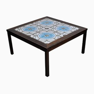Danish Rosewood & Ceramic Tile Coffee Table, 1970s