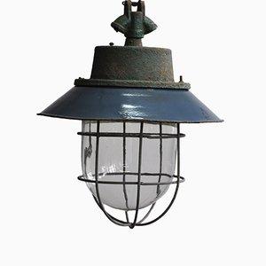 Lámpara colgante C-11 industrial, años 60