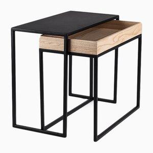 Tavolino da caffè AMBROGIO nero di Paula Studio per Formae