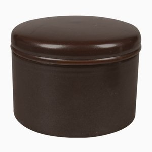Pot en Céramique avec Couvercle Vintage de L. Hjorth, 1950s