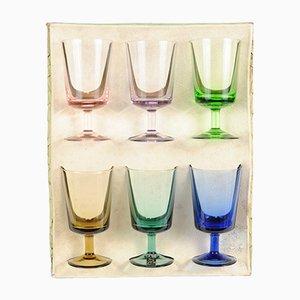 Bunte Vintage Cascade Gläser von Rupel Boom, 6er Set