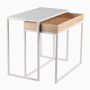Table Basse AMBROGIO Blanche par Paula Studio pour Formae