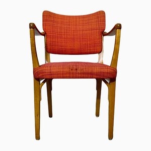Model 562-004 Beechwood Armchair from Nordiska Kompaniet, 1950s