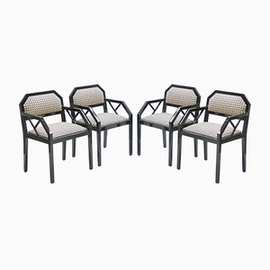 Lacquered Chairs by Jean Claude Mahey for Maison Romeo, 1970s, Set of 4