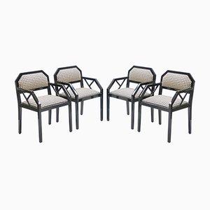 Sedie laccate di Jean Claude Mahey per Maison Romeo, anni '70, set di 4