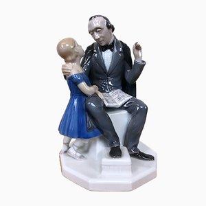 Figurina in porcellana raffigurante Andersen di Henning Seidelin per Bing & Grøndahl, anni '60