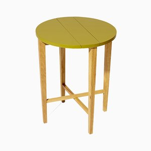 Hot Mustard Ta-bl Folding Side Table in Oak from Modernico