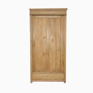 Antiker 1-Tür Schrank aus Weichholz