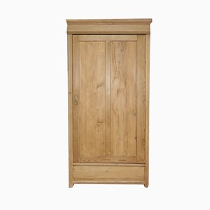 Antique 1-Door Softwood Cabinet