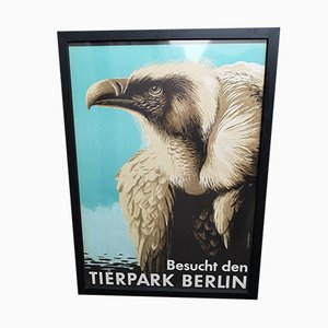 Vintage Tierpark Berlin Framed Poster by Grohmann, 1965