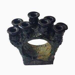 Finnischer Kerzenhalter aus Keramik von Anu Pentik für Pentik, 1970er