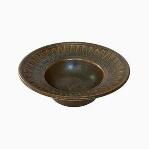 Piatto decorativo Mid-Century in ceramica di Brandi, Svezia, anni '60