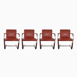 Vintage Brno Armchairs by Ludwig Mies Van Der Rohe for Knoll International, 1970s, Set of 4