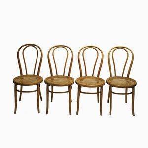 No. 18 Dining Chairs by Michael Thonet for Thonet, 1920, Set of 4