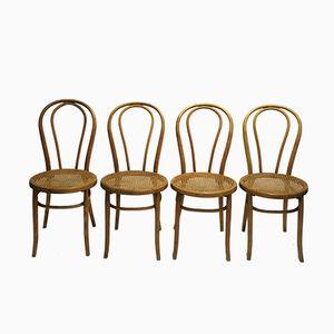 Nr. 18 Esszimmerstühle von Michael Thonet für Thonet, 1920, 4er Set