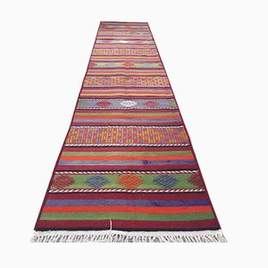 Turkish Narrow Kilim Runner, 1970s