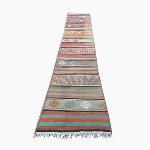 Turkish Narrow Kilim Runner, 1950s