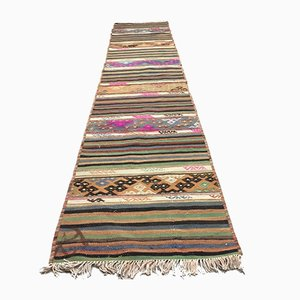 Turkish Narrow Kilim Runner, 1960s