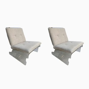 Vintage German Lucite Lounge Chairs from Baumann, 1970s, Set of 2