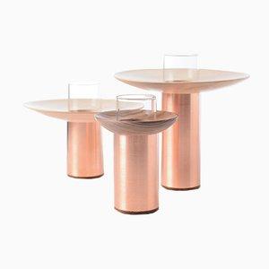 Vasi in legno di acero e noce di Nir Meiri, set di 3