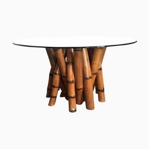 Vintage Sculptural Bamboo Dining Table by Antonio Budji Layug