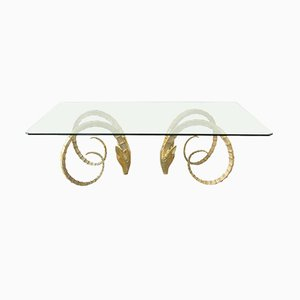 Vintage Solid Brass Ibex Dining Table