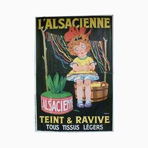 Belgisches L'Alsacienne Poster von CH Roux, 1930er