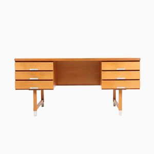 Mid-Century Danish Oak Desk by Kai Kristiansen for Skovmand & Andersen, 1950s
