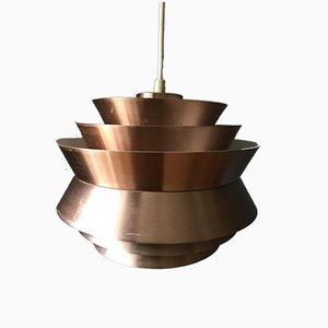Mid-Century Copper-Colored Pendant Light