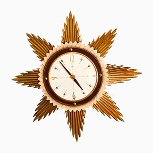 Vintage Starburst Wall Clock from Metamec