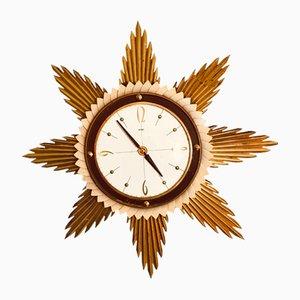 Vintage Starburst Wall Clock from Metamec