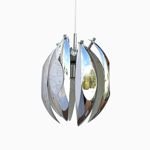 Space Age Chrome Pendant Lamp, 1960s
