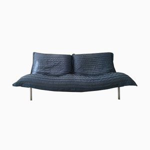 Blue Calin Two Seater Sofa by Pascal Mourgue for Cinna, 1980s