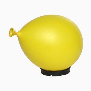 Lampe de Bureau Baloon Jaune par Yves Christin pour Bilumen, 1984