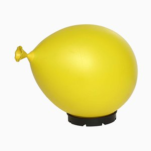 Yellow Baloon Table Lamp by Yves Christin for Bilumen, 1984